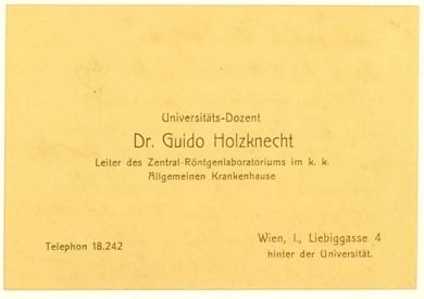 Holzknecht Guido Als Eigenhändiger Brief Mit
