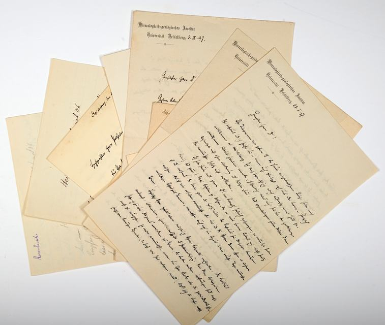 Rosenbusch Karl Heinrich Harry Alss 6 Eigenhändige Briefe Mit