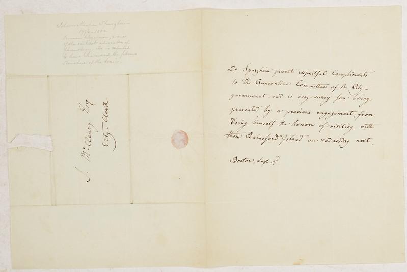 Spurzheim, Johann Gaspar - ALS (letter written in third person with